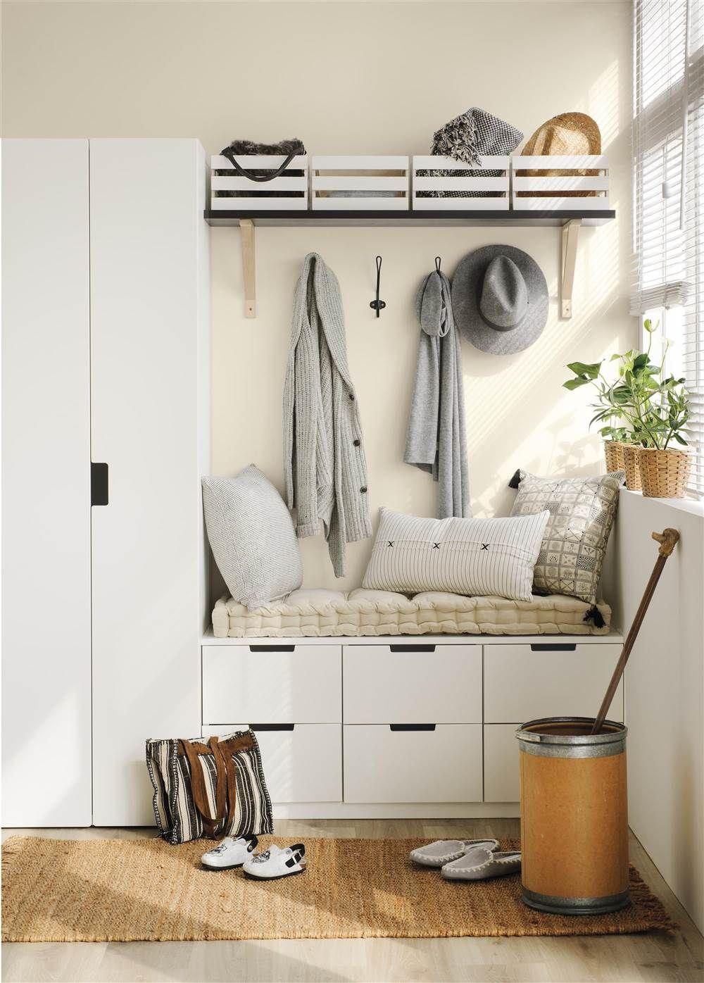 El mismo mueble tres usos recibidor bancos y ganchillo - Armarios entrada recibidor ...