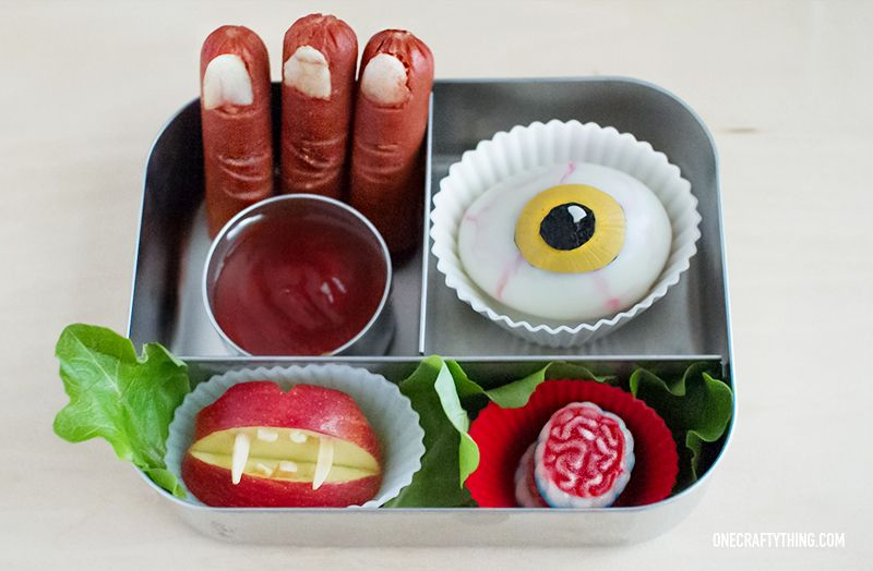 Severed Body Parts Bento  #Halloween #lunch