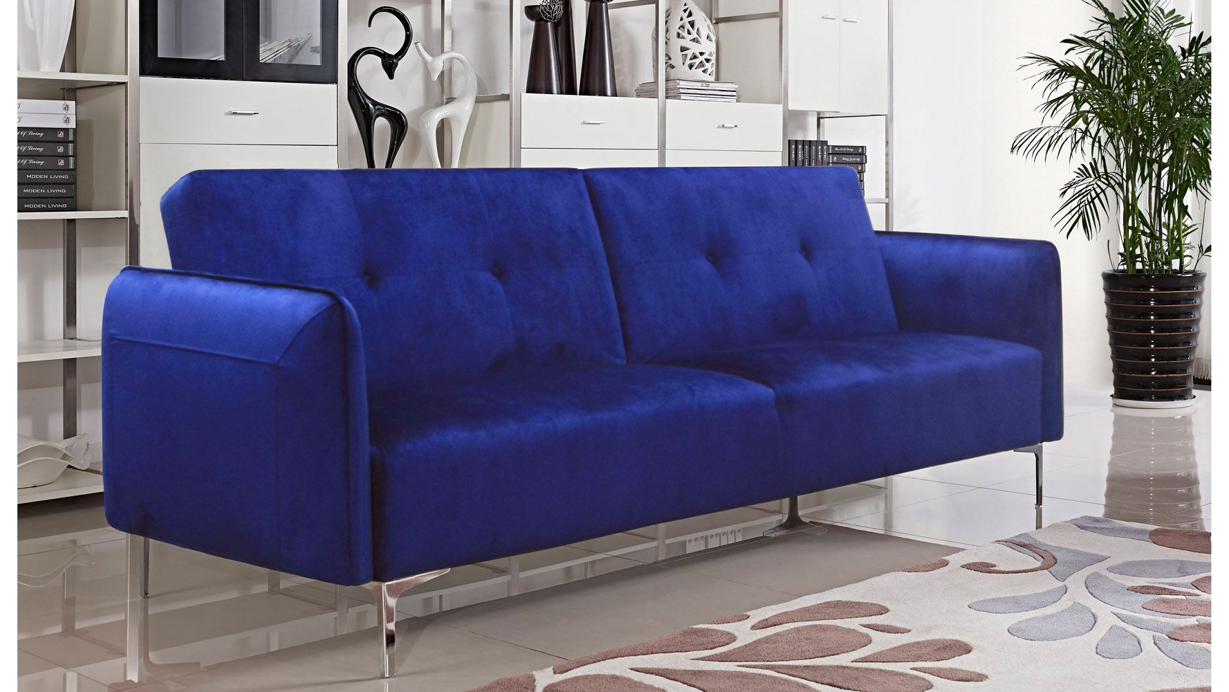 electric blue velvet sofa calico corners review navy bea modern digs