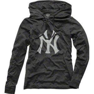 online store 323b0 f9952 New York Yankees Women's Retreat Hooded Long Sleeve Tri ...