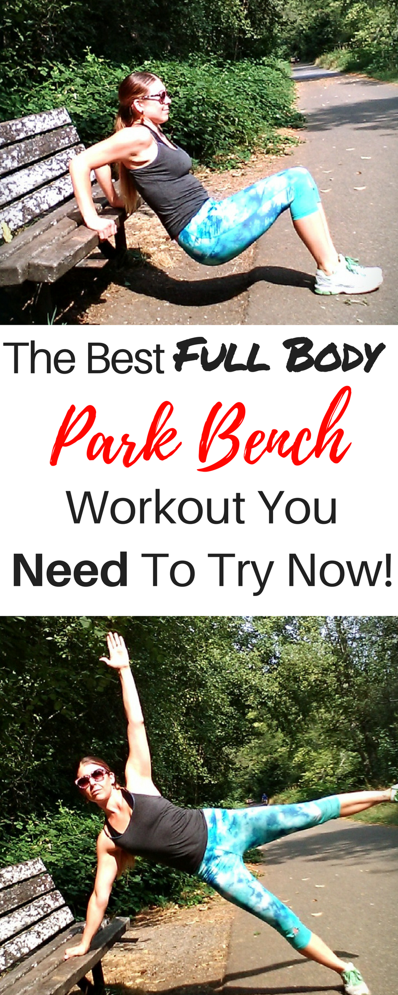 Full Body Toning Park Bench Workout That Can Be Done
