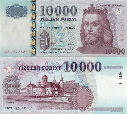 10000 Forint Hungary 2001