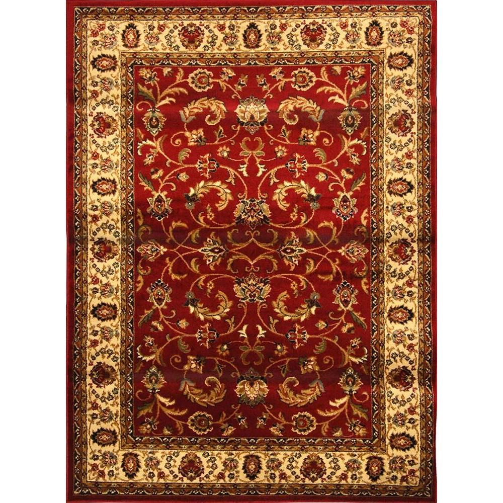 Home Dynamix Royalty Red Ivory 7 Ft 8 In X 10 4 Indoor Area Rug