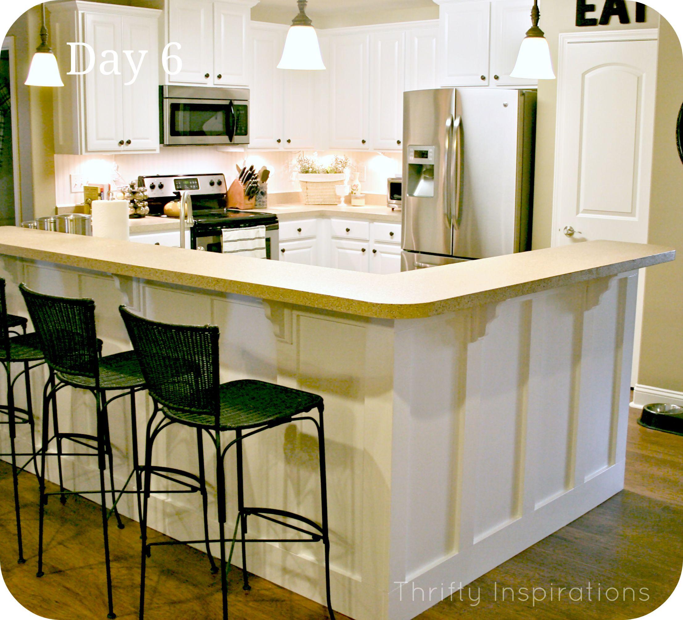 molding under kitchen bar - http://www.thriftyinspirations.net/2012 ...