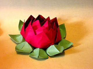 Flor de Lótus em origami