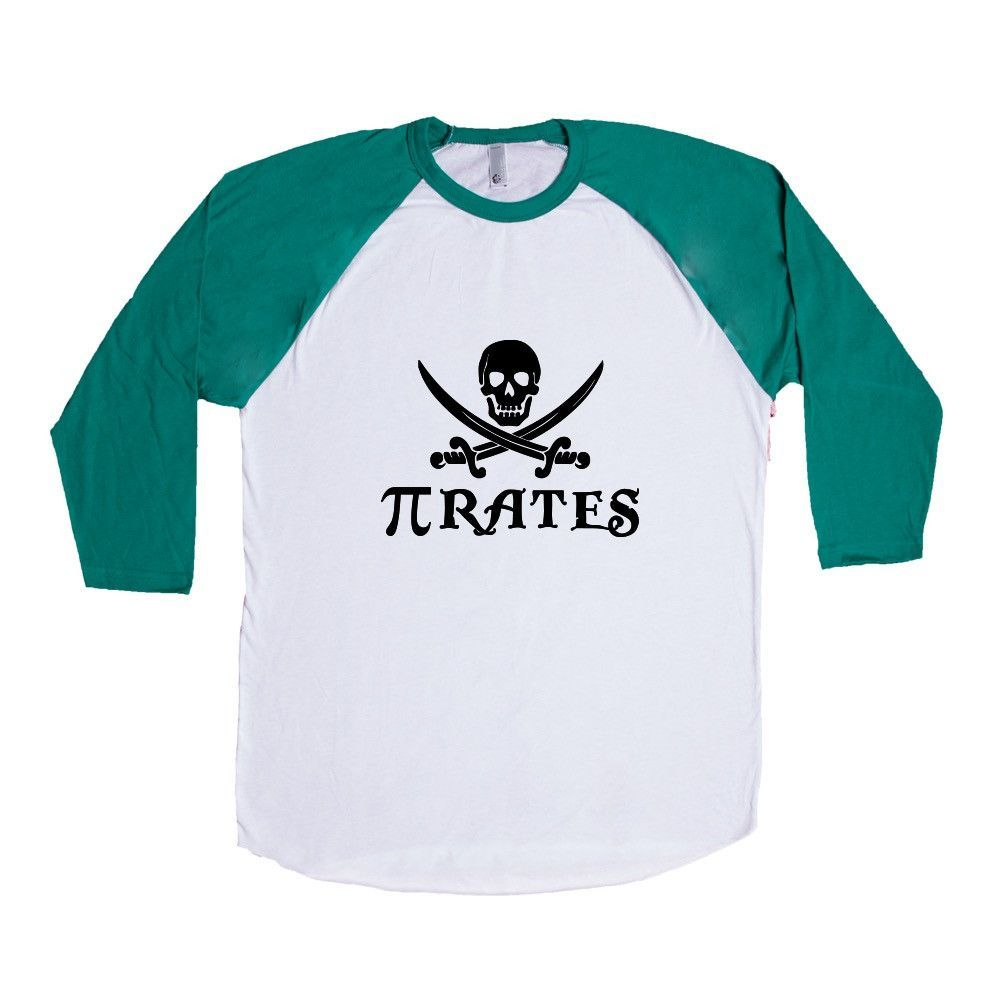 Pirates Pi 3.14 Math Mathematics Student Students Teacher Teachers Education Educate School Schools Unisex Adult T Shirt SGAL3 Baseball Longsleeve Tee