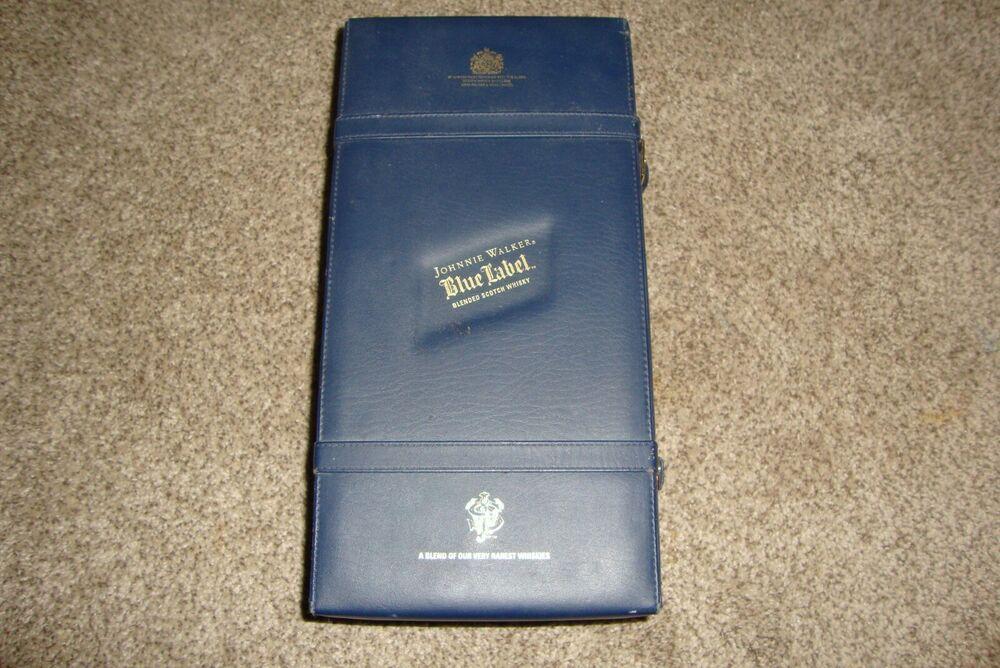 Johnnie Walker Blue Label Case Leatherette Suitcase 750ml Empty #JohnnieWalker