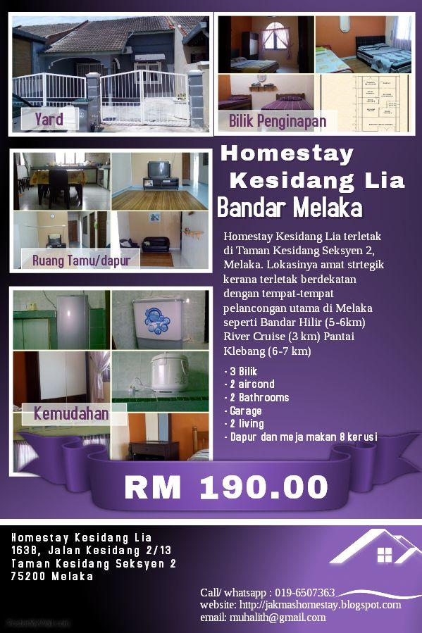 Homestay Kesidang Lia Bandar Melaka Homestay di Melaka
