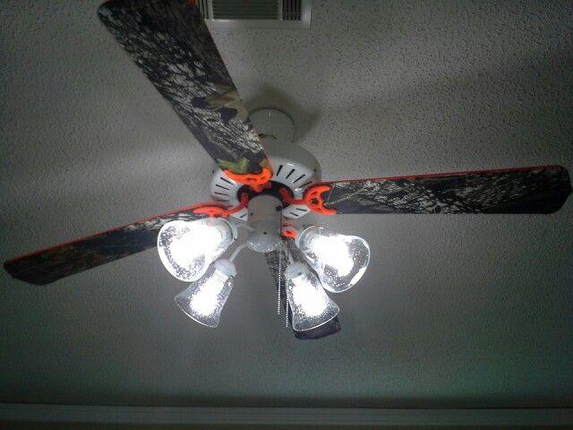 Mossy oak and orange ceiling fan bradley kooper pinterest mossy oak and orange ceiling fan aloadofball Image collections