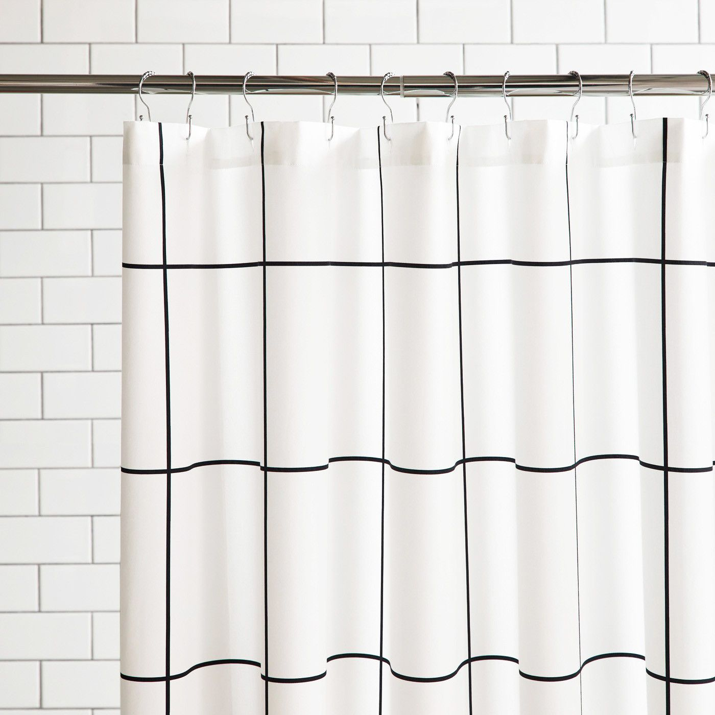 Grid Black Shower Curtain Black Shower Curtains Black Shower Plastic Shower Curtain