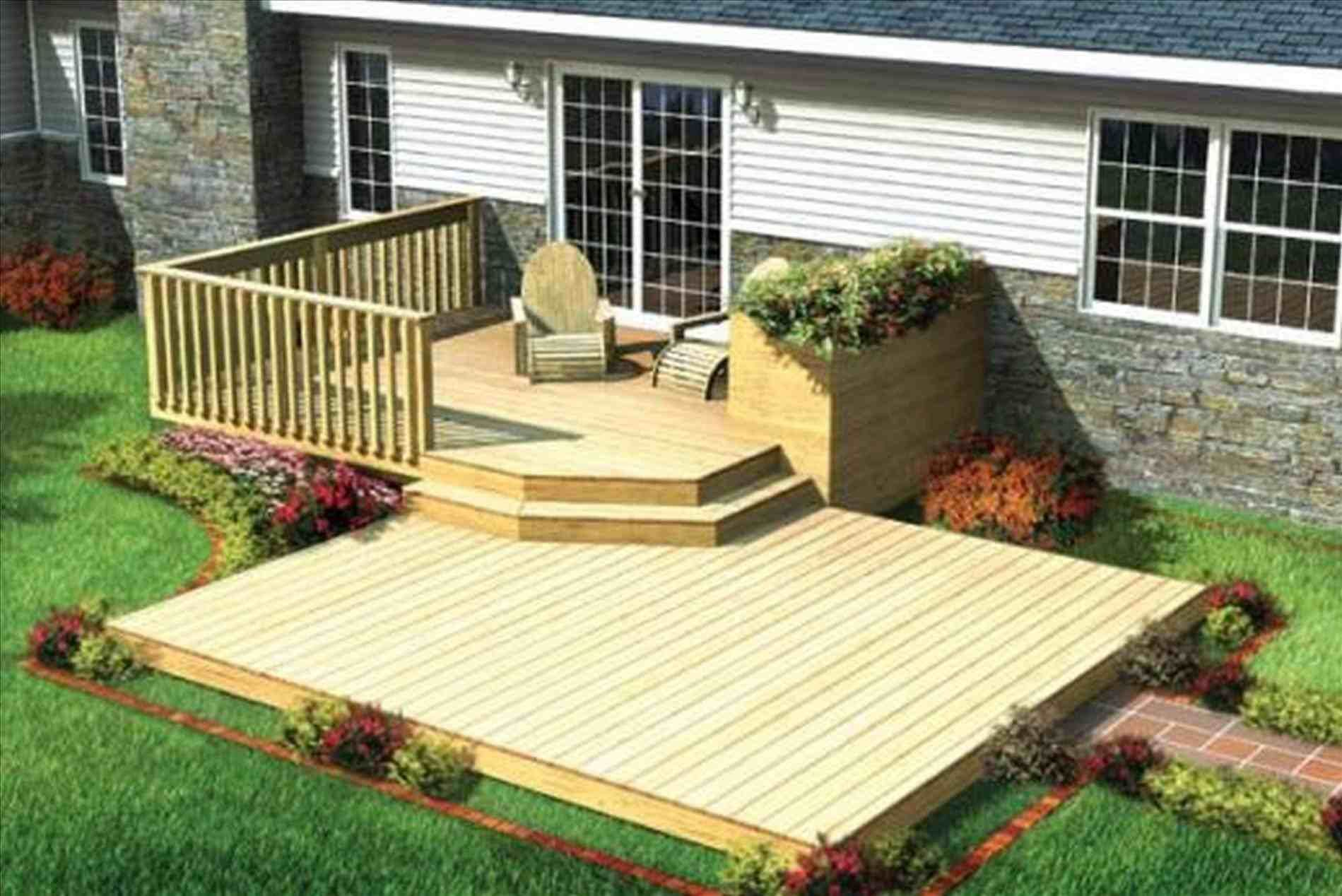 Level Wood Deck Ideas How To Build
