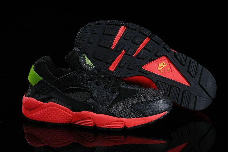 0dff52dcb9b9 Nike Air Huarache Hyper Punch Challenge Red Electric Green Black ...