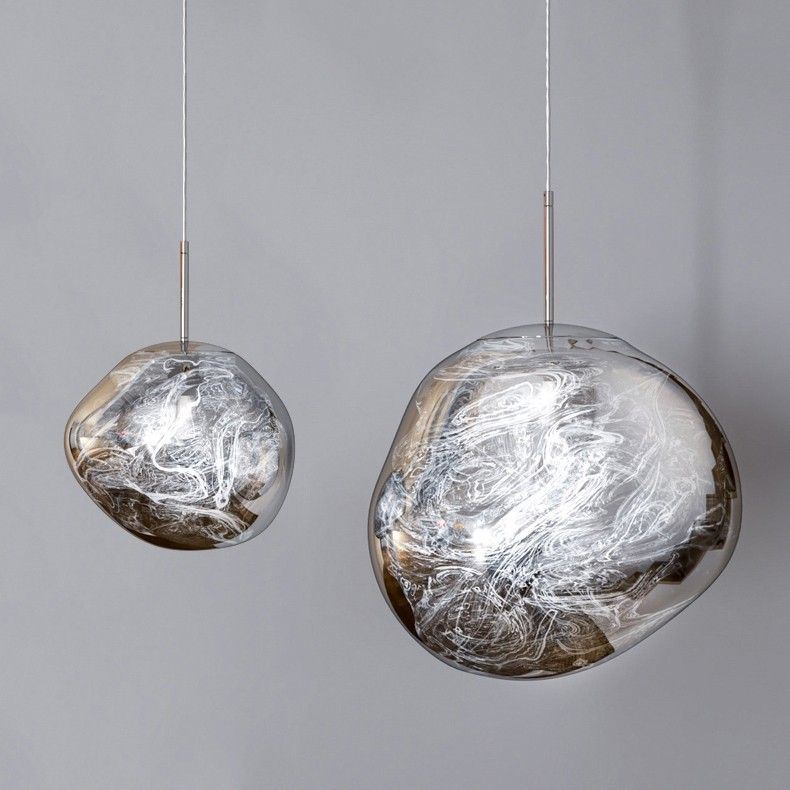 Magical Modern Irregular Glass Ball Metal Single Light Small Mirror Pendant Light In Chrome Single Pendant Lighting Pendant Light Glass Ball
