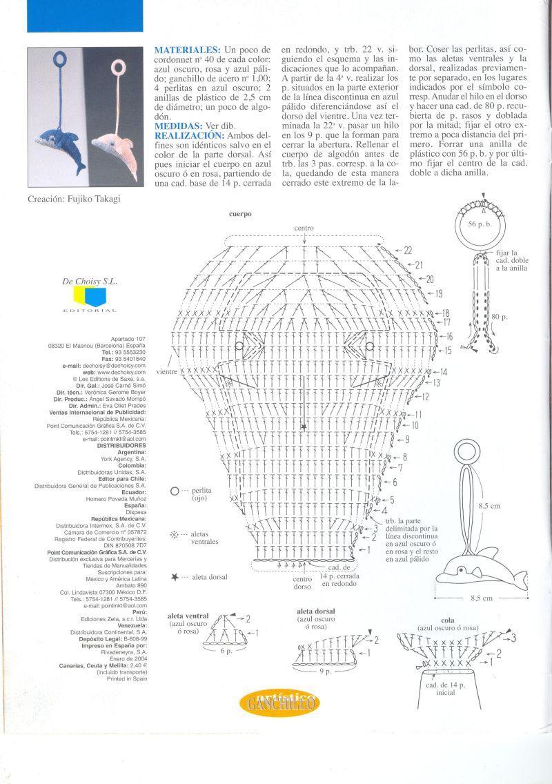 delfin tejido a crochet - Buscar con Google | cosas de crochet ...