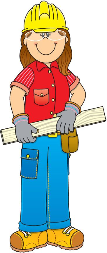 munity helpers clipart Construction Worker Clipart