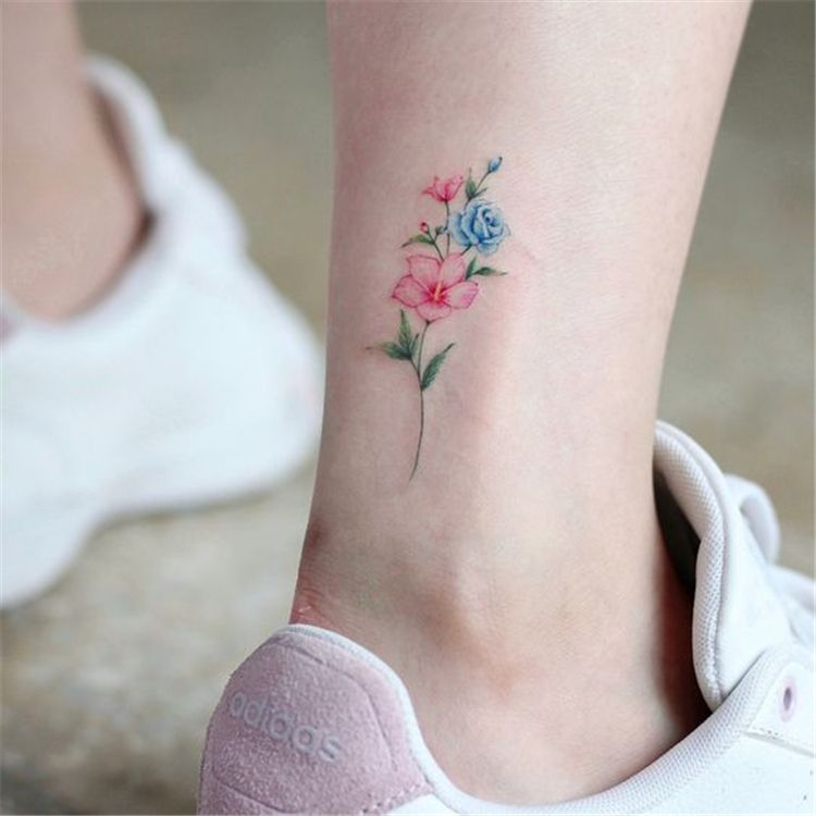 Gorgeous Ankle Flower Tattoo You Can T Miss This Summer Ankle Tattoos Ideas For Women Flower Anklet Tattoo Ankle T Anklet Tattoos Dainty Tattoos Ankle Tattoos