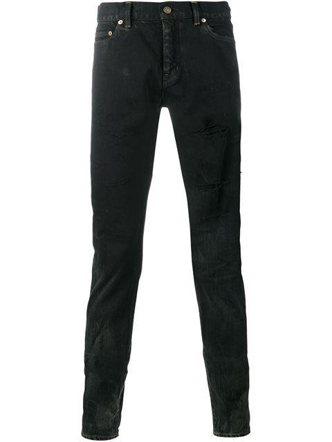 58205f83835 SAINT LAURENT Ripped Slim Fit Jeans. #saintlaurent #cloth #jeans ...