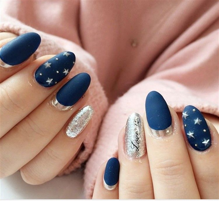 30 Creative Navy Nail Art Designs To Inspire You With Images