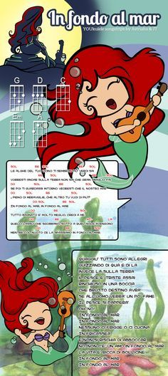 Under the Sea in Italian with Ukulele Chords. SO cute! : canciones chulas : Pinterest : Ukulele ...