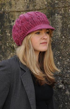 Erica brimmed Hat knitting pattern | HATS | Pinterest