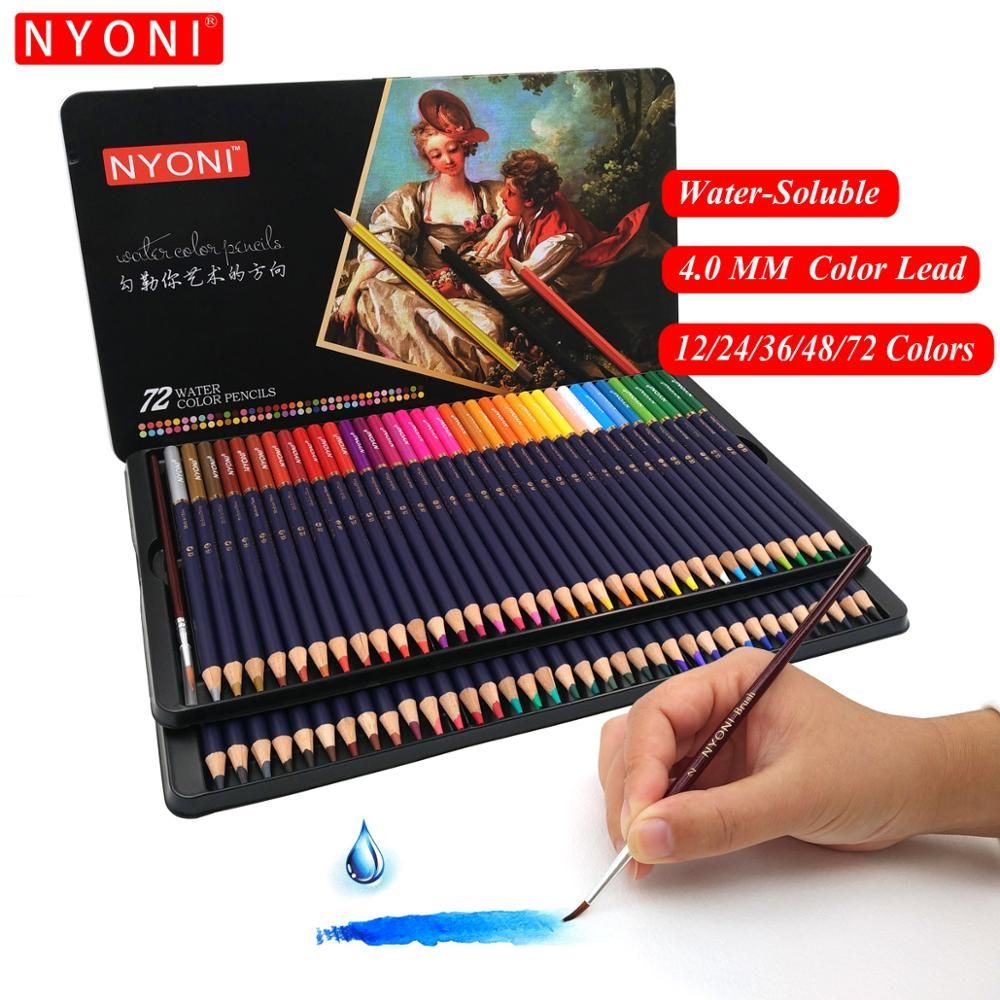 Premium Soft Core Watercolor Pen 12 24 36 48 72 150 Lapis De Cor
