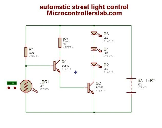 Automatic Street Light Control Circuit Diagram Light Control