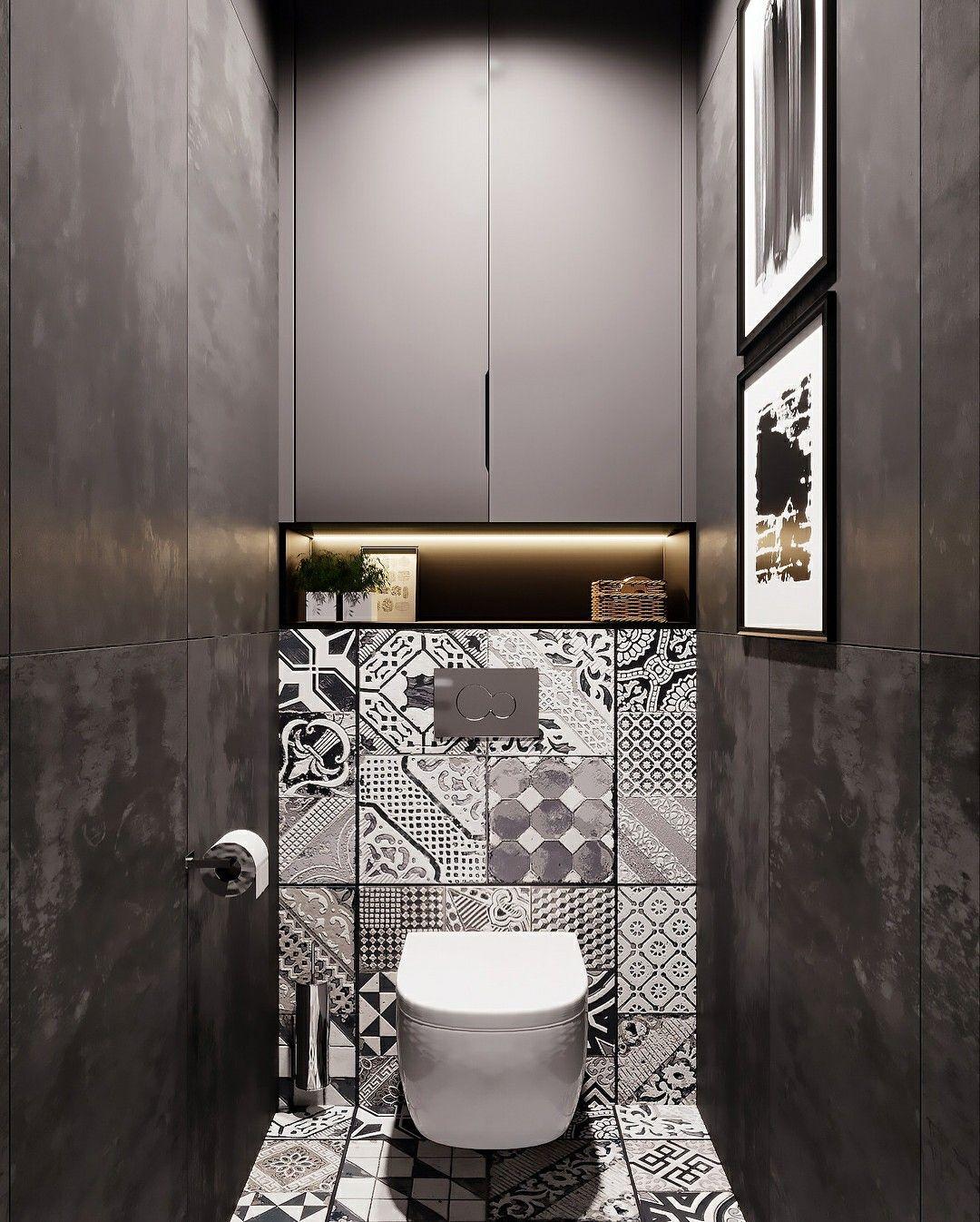 Интерьер в туалете в картинках