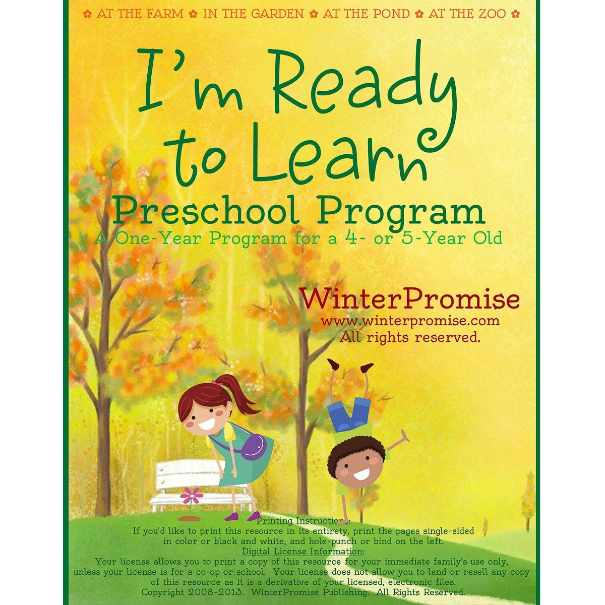 resource sample a 36 week schedule for your year long preschool