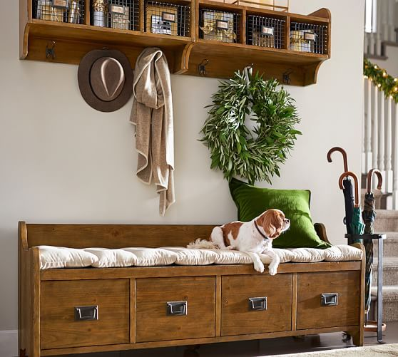 Entry Wood And Wire Cubby Affiliate Rustic Neutral Farmhouse Entryway Bench Storage Bench With Storage Diy Storage Bench