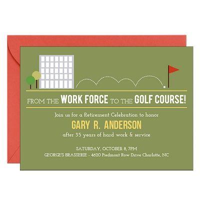 Golf Course Retirement Party Invitation Paper Source