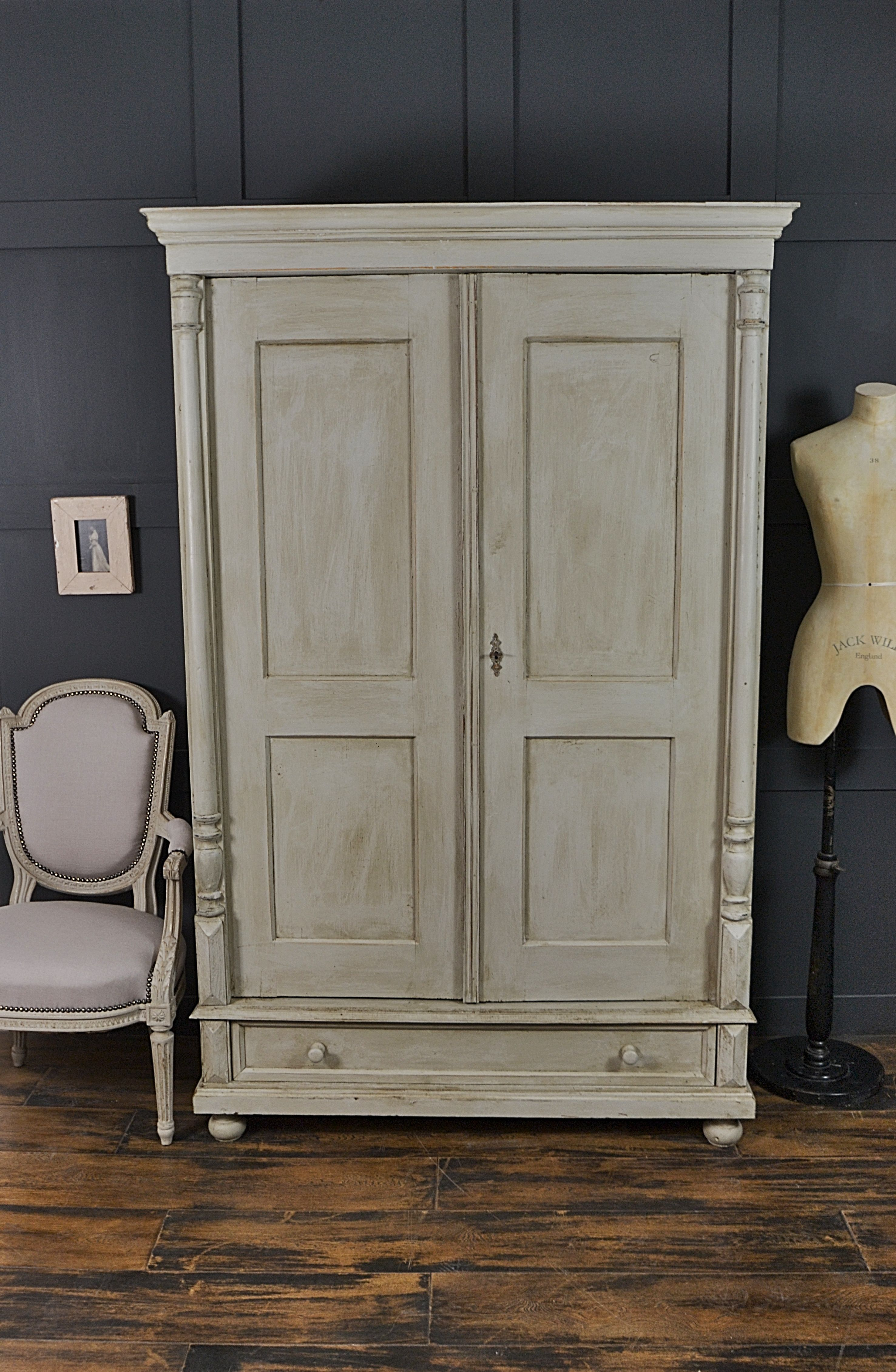 This Antique Wardrobe From Holland Has A Truly Rustic Look With Dark Wax Lied To