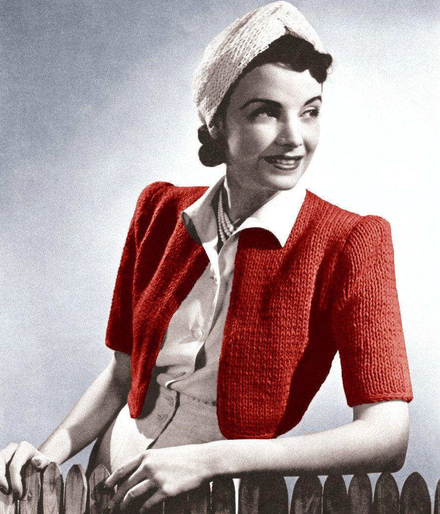 1930s bolero fashion from the 1930s pinterest vintage vintage cropped cardigan bolero sweater by bankloansurffo Choice Image