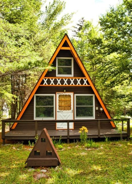 Summers rite build your own 24 x 21 a frame 2 story cabin diy plans fun to build save the green life