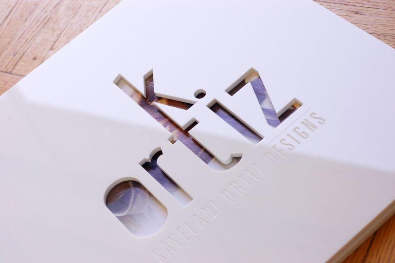 Custom White Acrylic Graphic Design Screwpost Portfolio with - küche neu bekleben