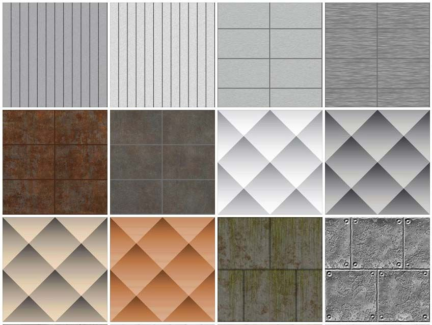 Sketchup Texture Metals Texture Metals Panels Perforated Sheet Cladding Metal Panels Aluminium Cladding Metal Cladding