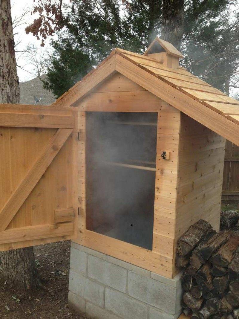 Diy cedar smokehouse diy projects pinterest smokehouse