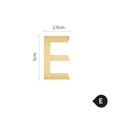 Photo of Brass Alphabet Letters – E