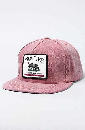 7c031e74ae3 The Cultivated Apocalypse Snapback in Maroon by Primitive