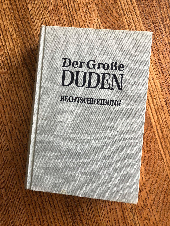 Vintage German Book Der Grosse Duden Etsy Big Book D Book Books