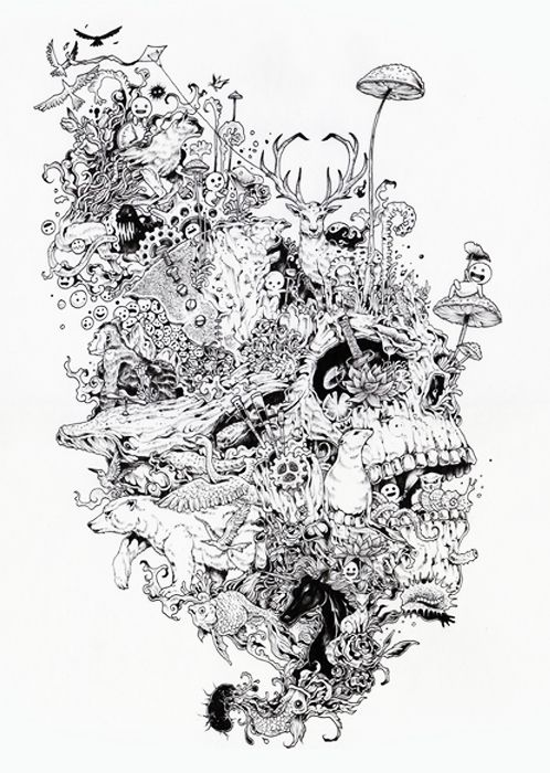 Kerby Rosanes | pen and ink | Pinterest | Inspiration