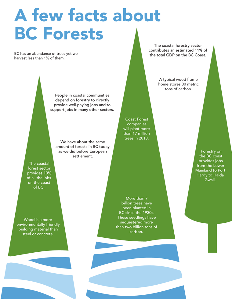Forestry on the British Columbia coast provides jobs from