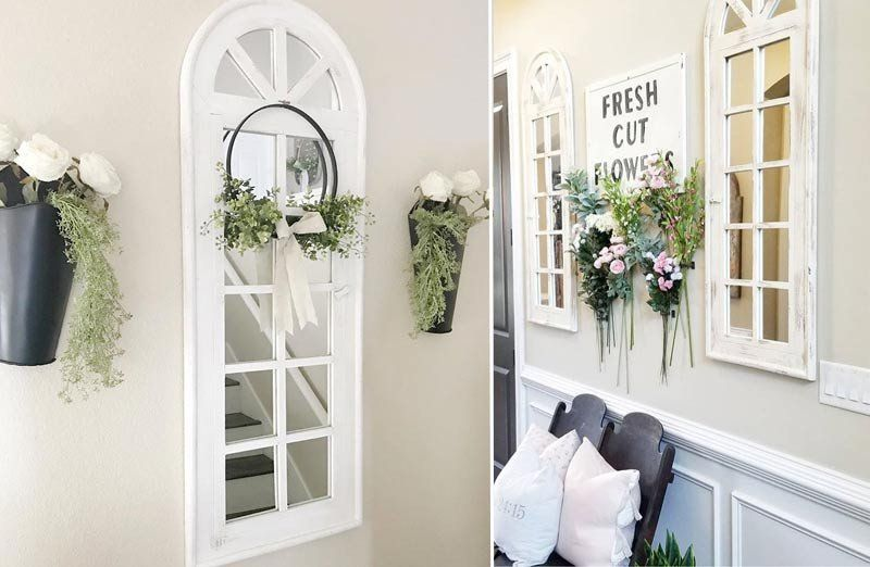 Our Window Mirror Is A Wall Panel Mirror With Shabby Chic Style Use This Distressed Wall Mirror In Any Space Th Window Mirror Decor Window Mirror Mirror Decor
