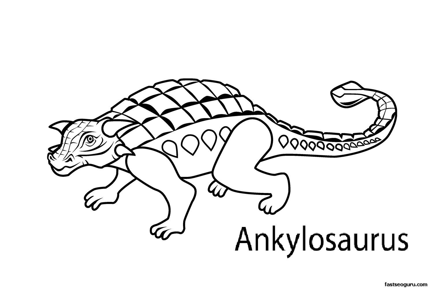 Dinosaur Coloring Pages With Names on a budget