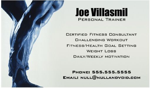 Sample Business Cards Personal Trainer Gallery Card Design And - Personal trainer business cards templates