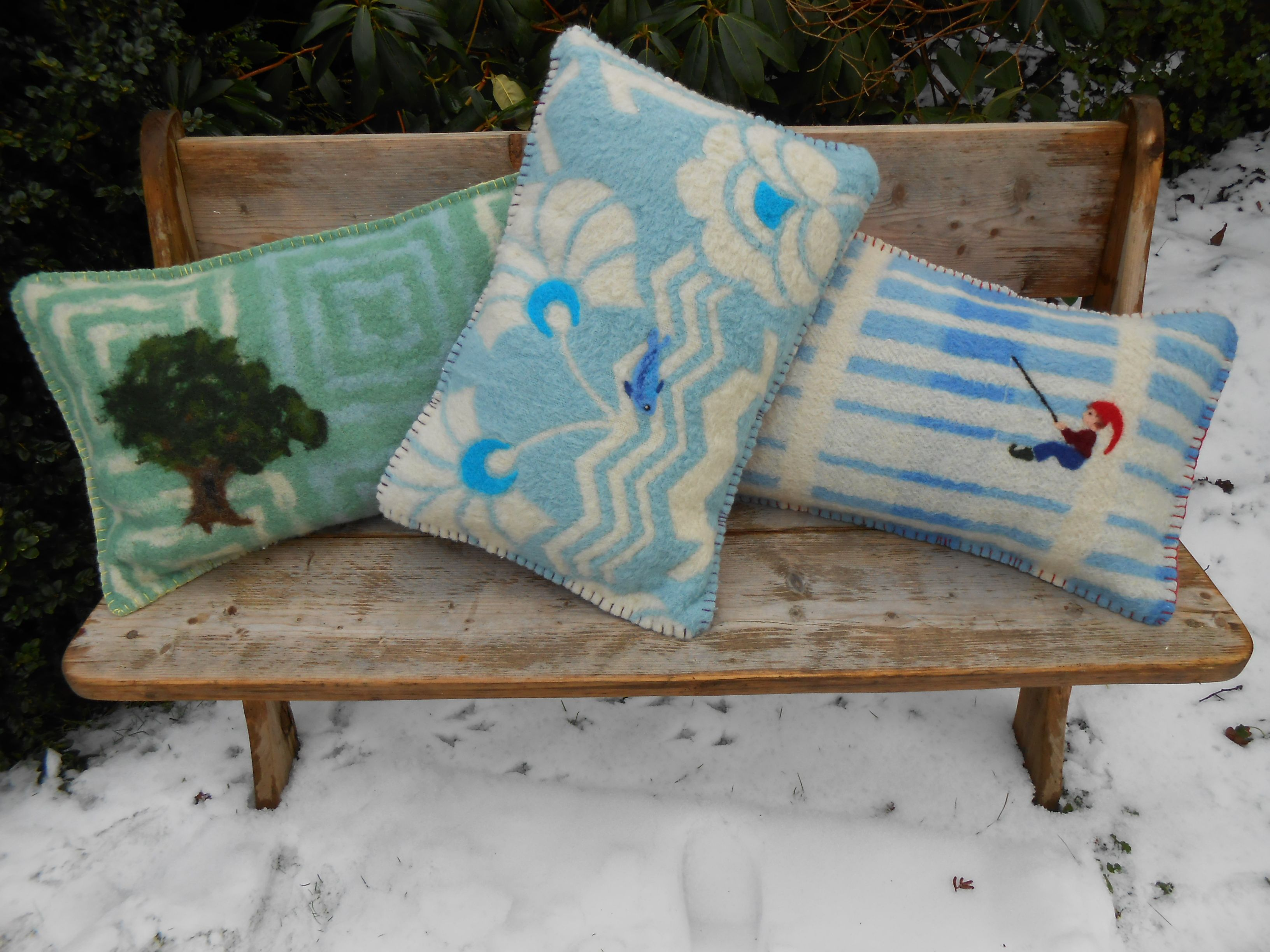 Pillows, felt, EEXTERHOUT