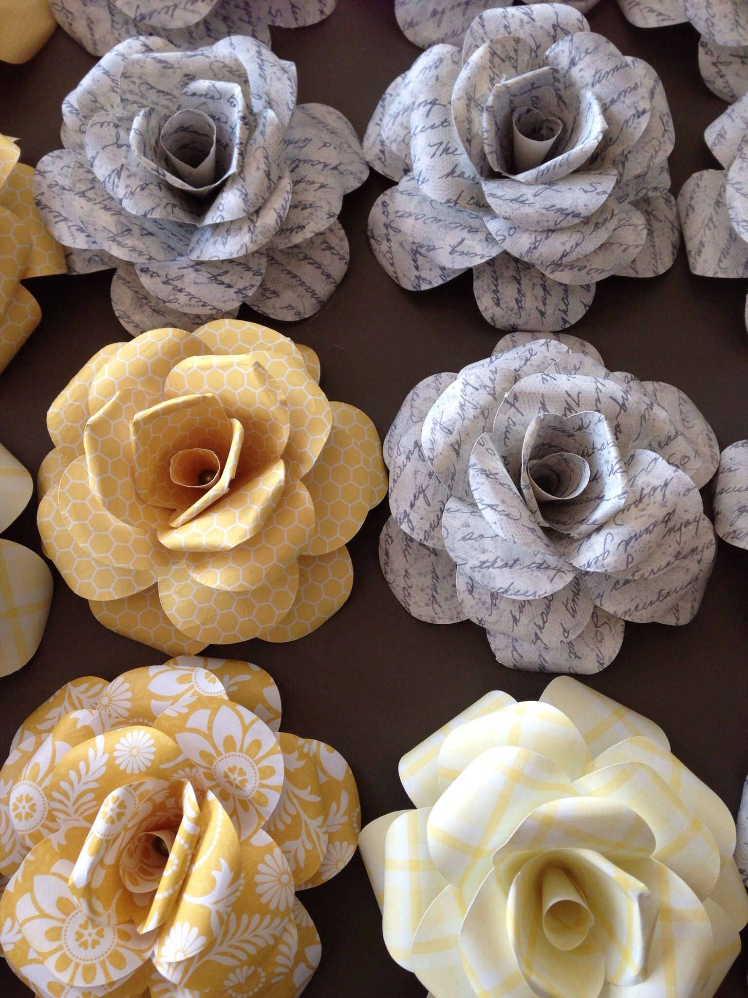 Paper Roses Made With Light Weight Scrapbook Paper 4 Inch Flower