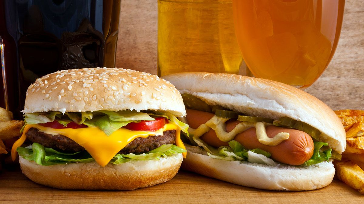 Image result for hamburgers and hotdogs