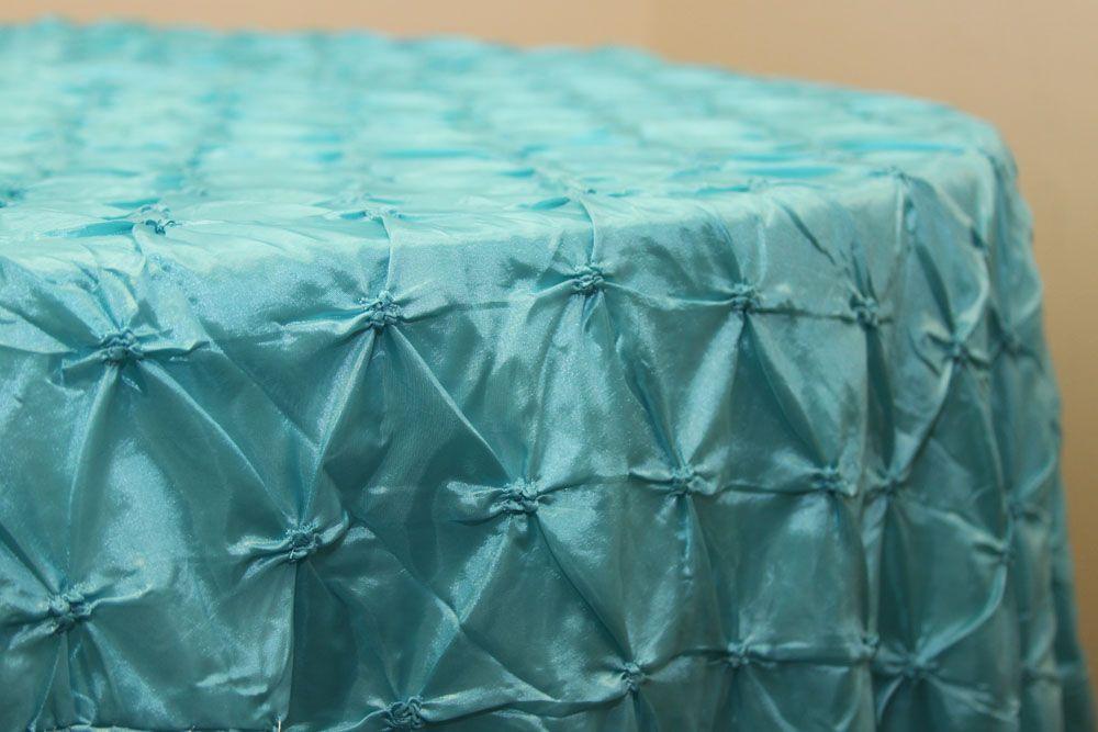 Pinchwheel Tablecloth Part - 17: 120 inch Pinchwheel Tablecloth Turquoise at CV Linens