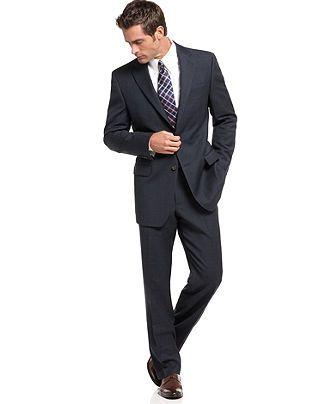 c5f7c87bce1560 Lauren by Ralph Lauren Suit Separates, Navy Plaid - Mens Suits & Suit  Separates - Macy's