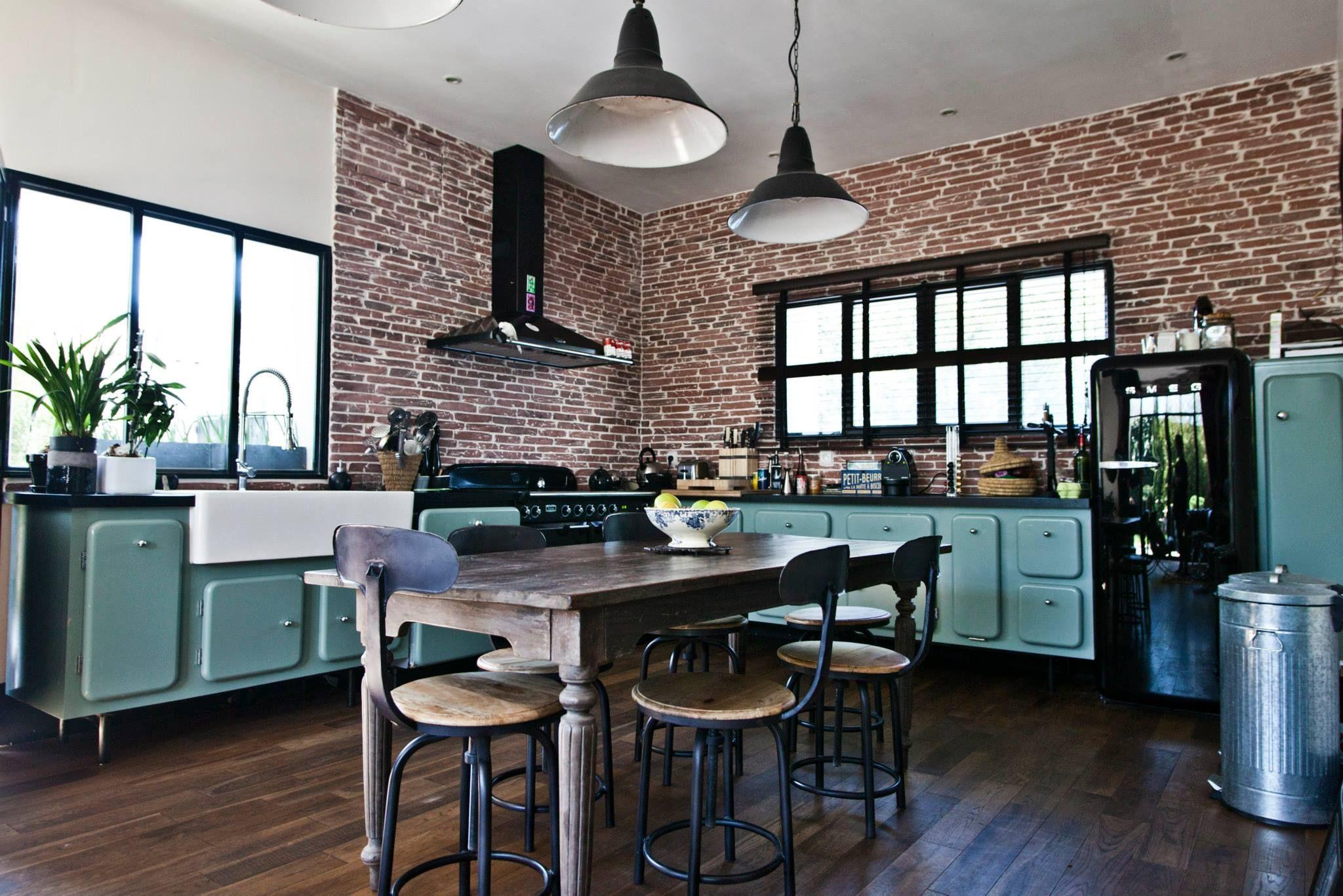 cuisine m lange style industriel ann es 50 christophe taureau architecte menuisier emmanuel. Black Bedroom Furniture Sets. Home Design Ideas